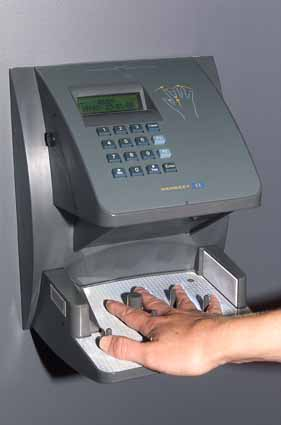 Hand print type burglar alarm