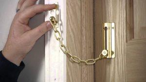 Install a door chain